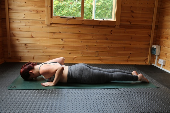 Start prone on the mat