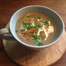 Mug of mushroom soup